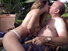 Tropical island sex with frizzy granddaughter